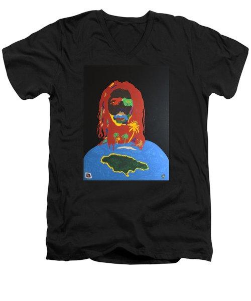 Peter Tosh Bush Doctor Men's V-Neck T-Shirt by Stormm Bradshaw