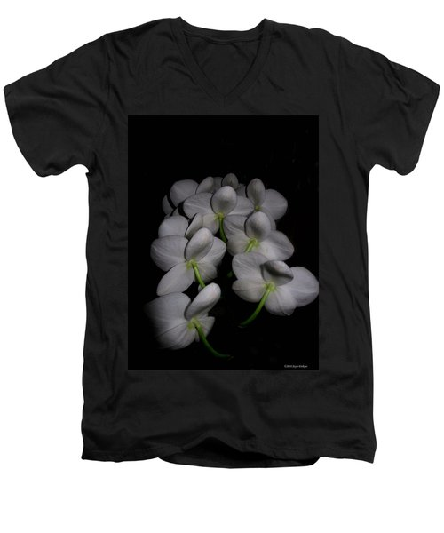 Phalaenopsis Backs Men's V-Neck T-Shirt by Joyce Dickens