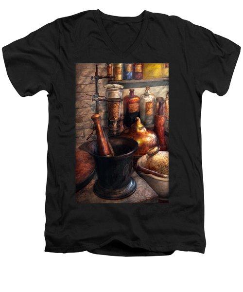 Pharmacy - Pestle - Pharmacology Men's V-Neck T-Shirt