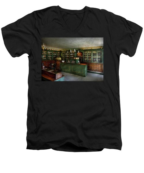 Pharmacy - The Chemist Shop  Men's V-Neck T-Shirt by Mike Savad