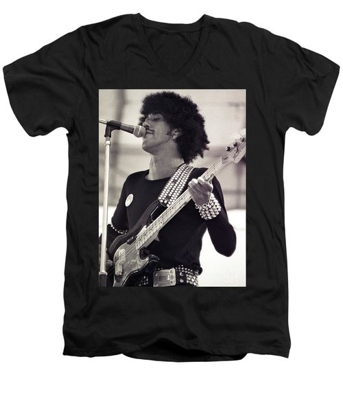 Phil Lynott Of Thin Lizzy Black Rose Tour At Day On The Green 4th Of July 1979 - Unreleased  Men's V-Neck T-Shirt