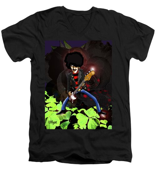Phil Lynott Of Thin Lizzy Men's V-Neck T-Shirt