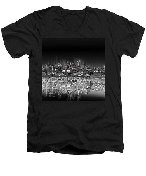 Philadelphia Skyline  Gradient Men's V-Neck T-Shirt