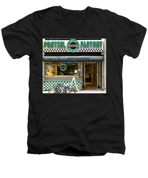 Philly Pretzel Factory Men's V-Neck T-Shirt