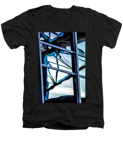 Phoenix Window Reflecting Grids Men's V-Neck T-Shirt
