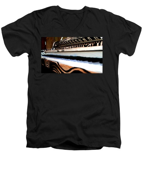Piano In The Dark - Music By Diana Sainz Men's V-Neck T-Shirt