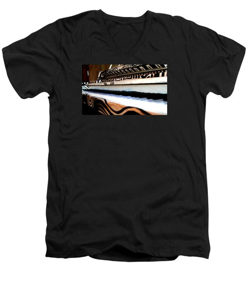Piano In The Dark - Music By Diana Sainz Men's V-Neck T-Shirt