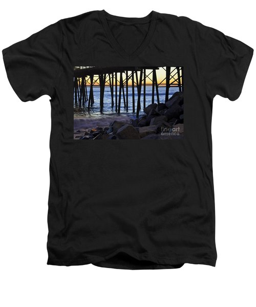 Pier Through  Men's V-Neck T-Shirt