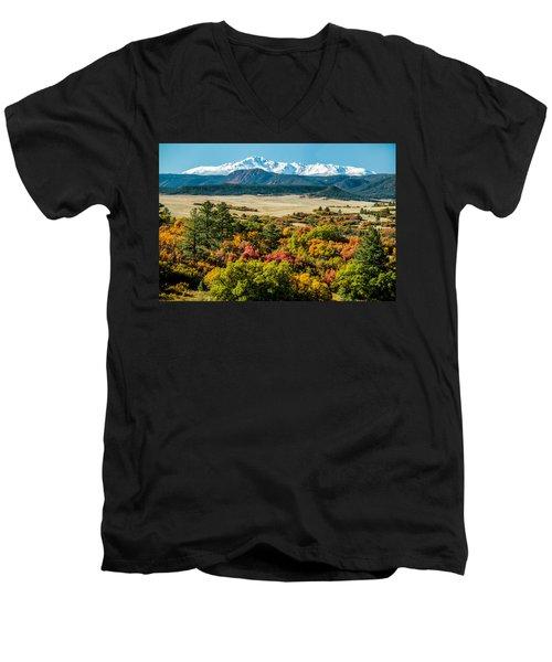 Pikes Peak Over Scrub Oak Men's V-Neck T-Shirt