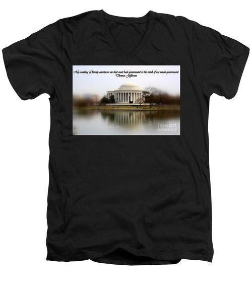 Pillars Of Strength Men's V-Neck T-Shirt by Patti Whitten