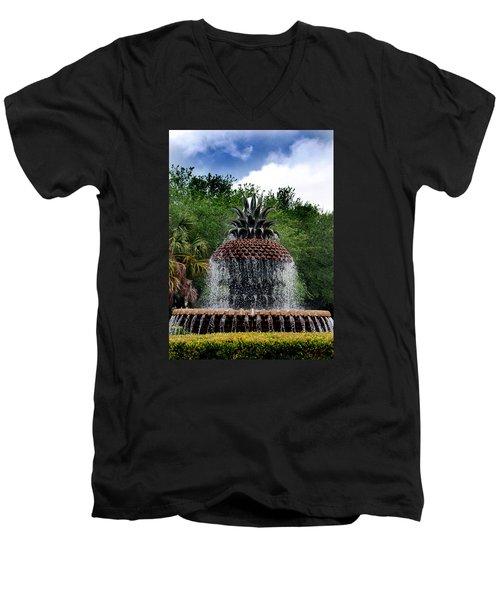 Pineapple Fountain Men's V-Neck T-Shirt