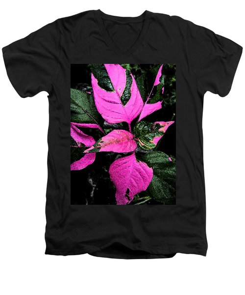 Men's V-Neck T-Shirt featuring the photograph Pink And Green by Aimee L Maher Photography and Art Visit ALMGallerydotcom