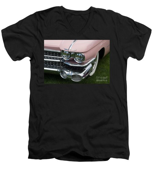 Pink Caddy Men's V-Neck T-Shirt