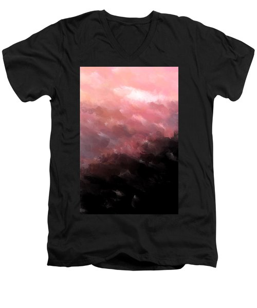 Pink Clouds Men's V-Neck T-Shirt