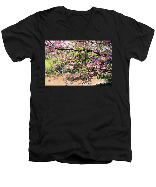 Pink Dogwood I Men's V-Neck T-Shirt