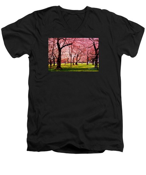 Pink Forest Men's V-Neck T-Shirt