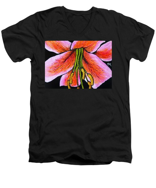 Pink Lily Men's V-Neck T-Shirt