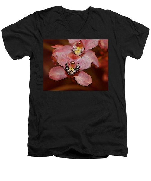 Pink Orchid Men's V-Neck T-Shirt