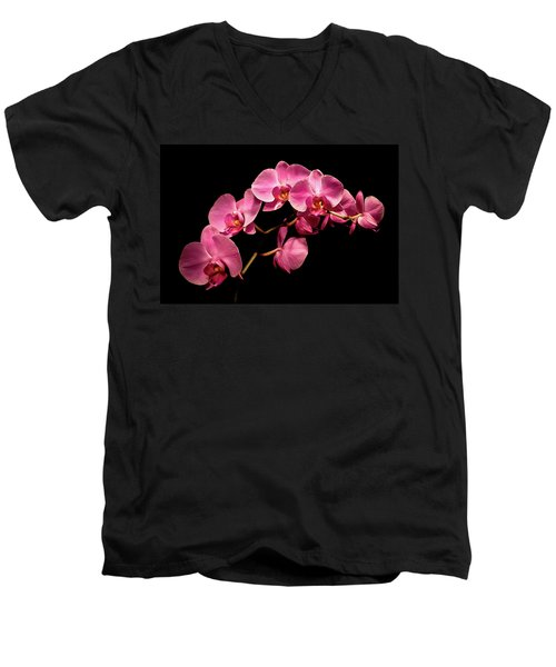 Pink Orchids 3 Men's V-Neck T-Shirt