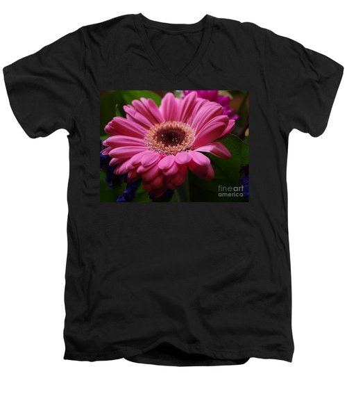 Pink Petal Explosion Men's V-Neck T-Shirt
