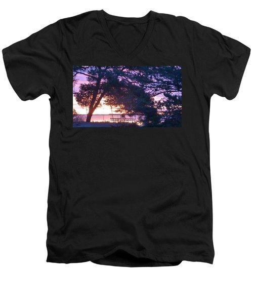 Pink Sunrise Men's V-Neck T-Shirt