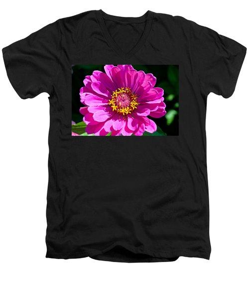 Pink Zinnia Men's V-Neck T-Shirt