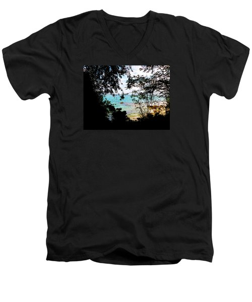 Men's V-Neck T-Shirt featuring the photograph Picturesque by Amar Sheow