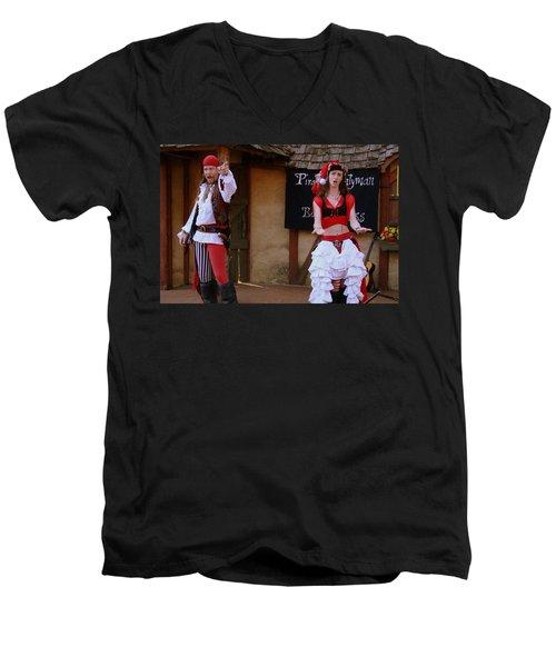 Pirate Shantyman And Bonnie Lass Men's V-Neck T-Shirt