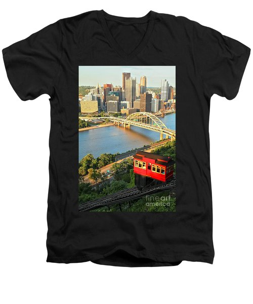 Pittsburgh Duquesne Incline Men's V-Neck T-Shirt