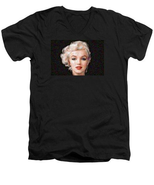 Pixelated Marilyn Men's V-Neck T-Shirt