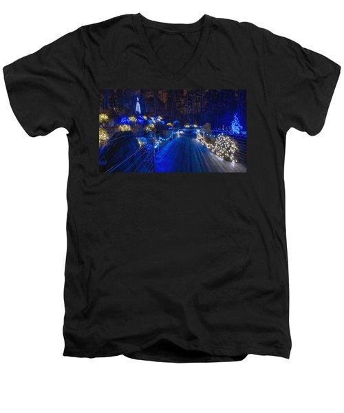 Plank Bridge - Panoramic Men's V-Neck T-Shirt