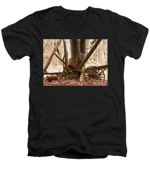Men's V-Neck T-Shirt featuring the photograph Planted Planter by Nick Kirby