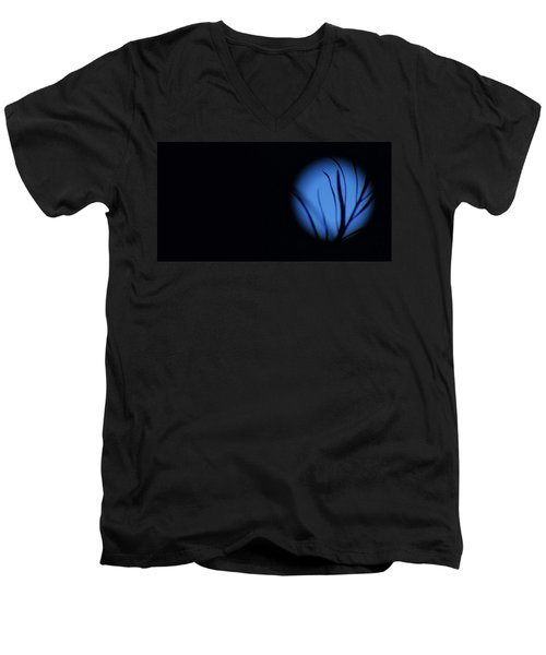 Men's V-Neck T-Shirt featuring the photograph Plant's Eye by Angela J Wright