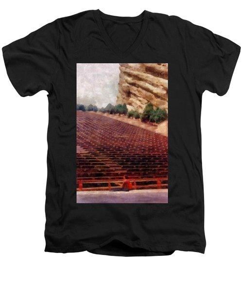 Playing At Red Rocks Men's V-Neck T-Shirt