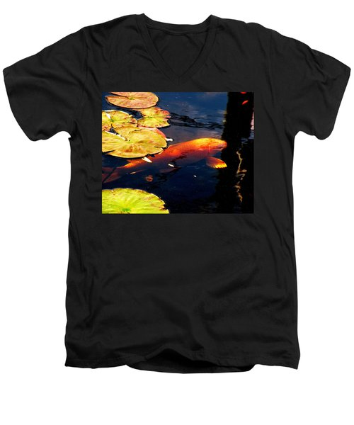 Playing Koi Men's V-Neck T-Shirt