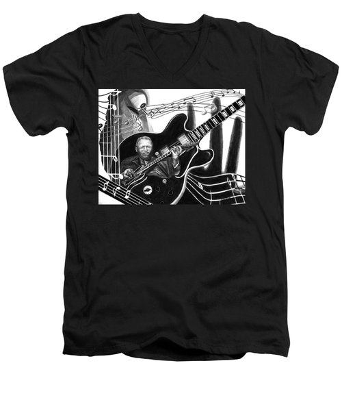 Playing With Lucille - Bb King Men's V-Neck T-Shirt
