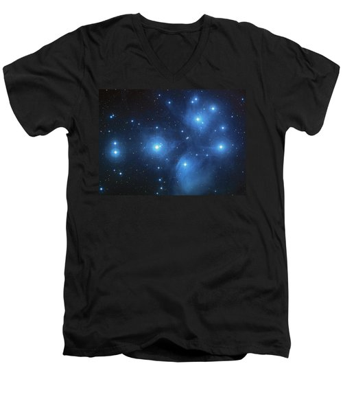 Pleiades - Star System Men's V-Neck T-Shirt by Absinthe Art By Michelle LeAnn Scott
