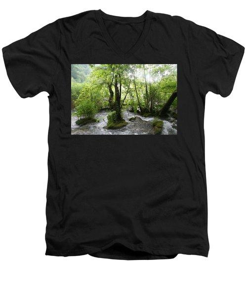 Plitvice Lakes Men's V-Neck T-Shirt