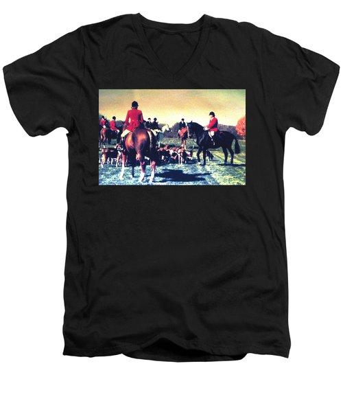 Plum Run Hunt Opening Day Men's V-Neck T-Shirt