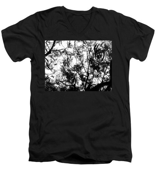 Men's V-Neck T-Shirt featuring the photograph Poinciana Lace by Amar Sheow