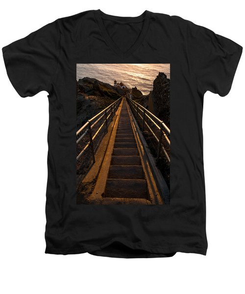 Point Reyes Lighthouse Staircase Men's V-Neck T-Shirt