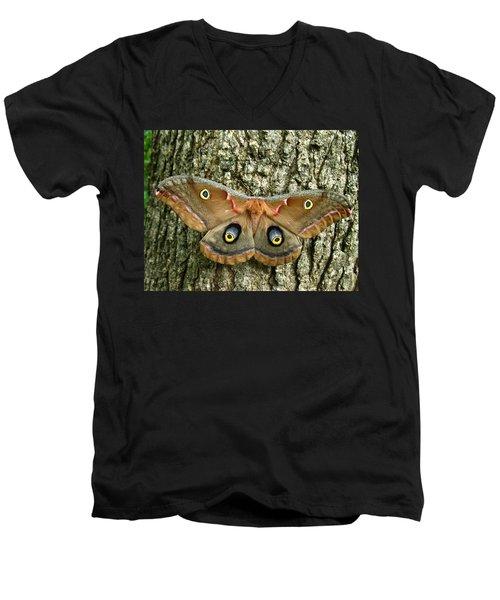 Polyphemus Moth Men's V-Neck T-Shirt