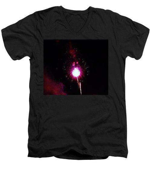 Men's V-Neck T-Shirt featuring the photograph Pom Pom by Amar Sheow