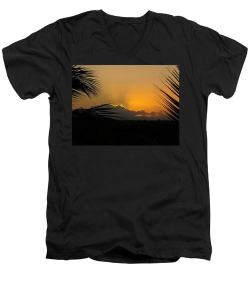 Ponce Sunrise Men's V-Neck T-Shirt