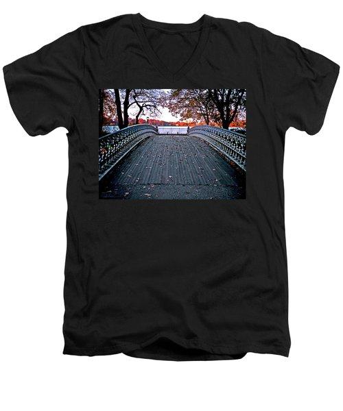 Pond Footbridge Men's V-Neck T-Shirt