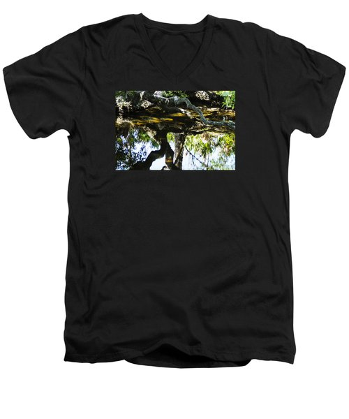 Pond Reflection Men's V-Neck T-Shirt