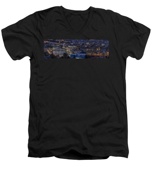 Men's V-Neck T-Shirt featuring the photograph Pontevedra Panorama From A Caeira by Pablo Avanzini
