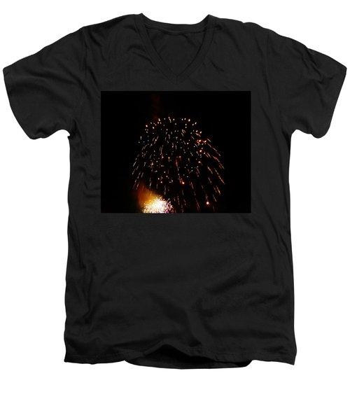 Men's V-Neck T-Shirt featuring the photograph POP by Amar Sheow