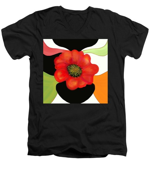 Pop Poppy Men's V-Neck T-Shirt