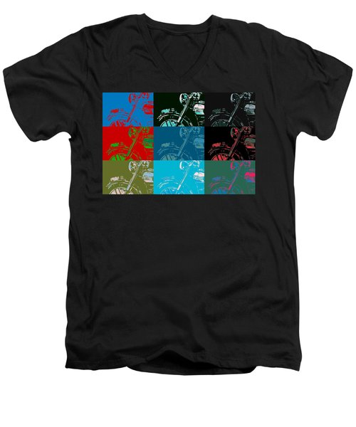 Popart Motorbike Men's V-Neck T-Shirt